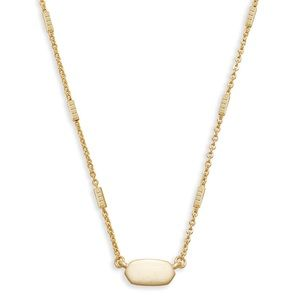 Kendra Scott fern necklace gold